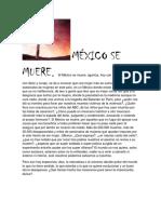 MÉXICO SE MUERE