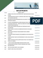 MATLAB Project List KITES1