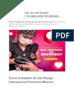 Curso Completo de Nail Design Internacional【O MELHOR DO BRASIL …