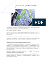Ingeniería genetica en agricultura