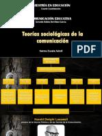 Teorías Sociológicas de la Comunicación