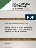 Unidad v Uniones monetarias y dolarización