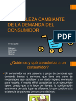 NATURALEZA CAMBIANTE DE LA DEMANDA DEL CONSUMIDOR
