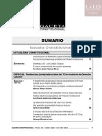 Sumario de Gaceta Constitucional & Procesal Constitucional 145