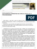 AS DIVERSAS CORRENTES NA IGREJA ATUAL (II)_ O PROGRESSISMO