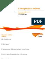 Principes de l'integration Continue