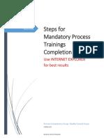 Steps for Mandatory Training Completion v1.5