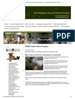 Philippine Animal Welfare Society Foster Home Program - The Philippine Animal Welfare Society