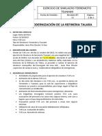 EJERCICIO DE SIMILACRO TERREMOTO TSUNAMI