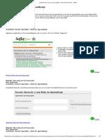 Asociar ruta de aprendizaje  - Portal SOFIA Plus - SENA