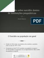Aula 45 - Suicídio em pacientes internados