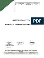 8. P.OP-01 PROCEDIMIENTO MANEJO DE ACEITES USADOS Y OTROS HIDROCARBUROS. V 12
