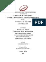 COMENTARIO CRITICO DE SEGURIDAD DE OBRAS EN CONSTRUCCIONES