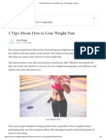 5 Tips About How to Lose Weight Fast - Click Blogger - Medium