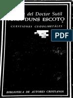 Duns Escoto - Cuestiones Cuodlibetales