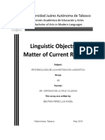 Linguistic Objects as a Matter of Current Research