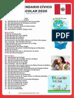 Calendario cívico escolar 2020
