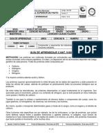 GUÍA DE APRENDIZAJE CIENCIAS N. GRADO 9  IMPORTANCIA DE LA SINTESIS DE PROTEÍNAS  12022018