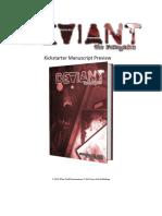 Deviant The Renegades Kickstarter Manuscript Complete Preview [2019]