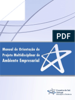 Manual de Orientação do Projeto Multidisciplinar de. Ambiente Empresarial