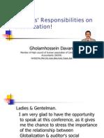 Auditors' Responsibilities on Globalization 2