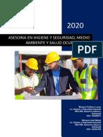 2020 - Propuesta Laboral SEGIND, asesoría laboral, ambiental, salud y bi...