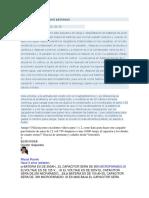 CARGADOR CAPACITIVO DE BATERIAS- formulas y datos importantes