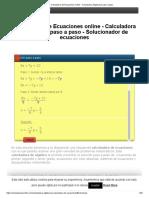 Calculadora de Ecuaciones online - Calculadora Algebraica paso a paso