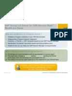 SAP GoingLive Check for VAR Service Desk
