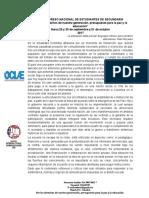 CONVOCATORIA VIII CONGRESO NACIONAL DE ESTUDIANTES DE SECUNDARIA