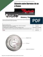 Tus Expertos en Frenos_ Cómo saber el Diámetro entre Barrenos de un Rotor o Disco de Frenos