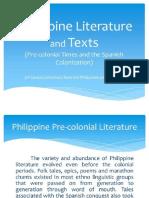 1. Philippine Literature during the Precolonial Period