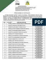 CRONOGRAMA DE CONVOCAÇÃO - PROVA PRÁTICA PARA O INGRESSO NO CURSO INTERMEDIÁRIO DE LIBRAS 2020.1