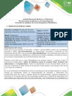 Syllabus del curso Bioquímica metabólica