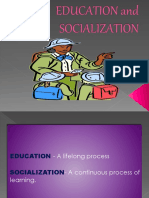 education and socialization