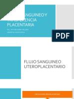 FLUJO SANGUINEO Y TRASFERENCIA PLACENTARIA DE AGENTES ANESTESICOS