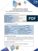 Guía de actividades y rubrica de evaluación - Fase 3 - Administración e Implementación de Redes Telemáticas