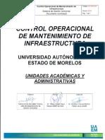 CO-SGA-001 Control Operacional Mantenimiento de Infraestructora