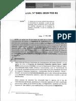 RESOLUCION N°401-2019-TCE-S1 (APLICACION SANCION)