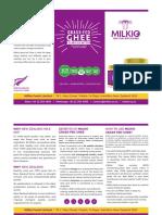 Grass Fed Ghee brochure | Milkio Foods