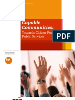 Capable Communities - Towards Citizen-Powered Public Services