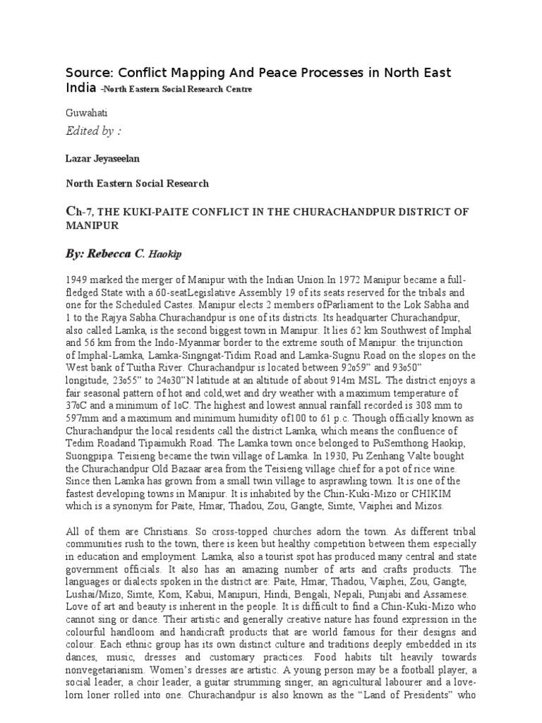 The Thadou Kuki- Paite Conflict 1997