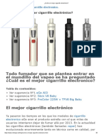 ¿Cuál es el mejor cigarrillo electrónico_