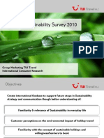 TUI Travel Sustainability Survey 2010