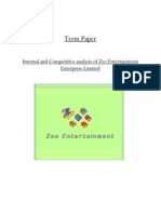 Risk Analysis and Business Continuity Planning of Zee TV