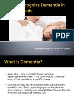 How to Recognize Dementia in Elderly People