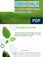 SUSTAINABLE DEVELOPMENT GOALS AND AGRICULTURE