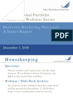Diversity Marketing Outreach