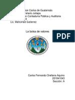 Bolsa de valores de Guatemala,trabajo