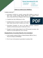Geocon International Company Profile and bio data